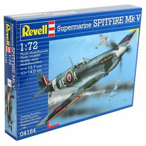 Revell Supermarine Spitfire MK V Unpainted Plastic Model Kit - 1/72 Scale