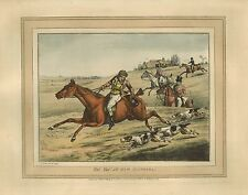 "Henry Thomas Alken, Fox Hunting, antique, Dogs, 20""x16"" Canvas Art Print"