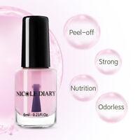 NICOLE DIARY Calcium Clear Peelable Peel-Off Base Coat Nail Polish Water Base6ml