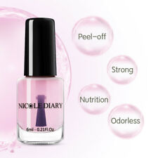 NICOLE DIARY Calcium Clear Peelable Peel-Off Base Coat Nail Polish Water Base6ml