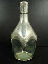 Magnifique ancienne bouteille publicitaire Grand Marnier verre & étain du Manoir