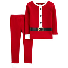 Carter's Toddler Boy Sz 5T SANTA SUIT Cotton Pajamas Pjs CHRISTMAS