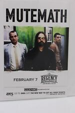 MUTEMATH THE REGENCY BALLROOM HANDBILL FLYER