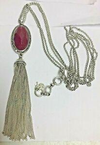 LUCKY BRAND Burgundy Tassel Necklace