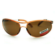 Flexible Durable Polarized Sunglasses TR90 Lite Weight Unbreakable Frame Brown