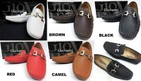 Men's GIOVANNI faux leather slip on shoes black white red camel brown 29703
