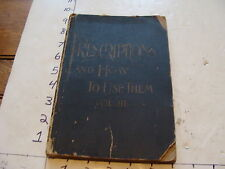 1800's PRESCRIPTIONS and How To Use Them vol III: w/ tear out prescriptions WOW