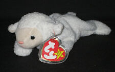 TY FLEECE the LAMB BEANIE BABY - MINT with MINT TAGS