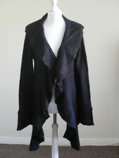 Womens knitted waterfall cardi Heart&Soul, size 12-14, black, brand new