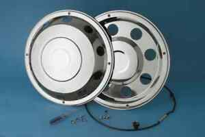 """4 x  17.5"""" Iveco wheel trims hub caps covers stainless steel"""