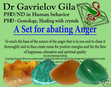 A Kit for Abating Anger Natural Healing Energy Crystals By Dr. Gavrielov
