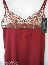 Elle Macpherson BOUDOIR 061 Large Ruby Red 95% SILK Chemise w crystals Rrp $175