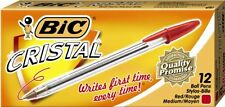 Bic Cristal Ballpoint Pen - Medium Pen Point Type - Point Pen Point Style - Red