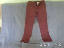 Boys 11-12 Years - Red Brown Slim Fit Trousers - Denim Co.