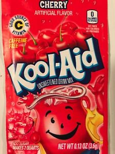 100 Kool Aid Drink Mix  CHERRY popsicle flavor taste party pool summer fun NEW