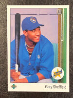 1989 Upper Deck Gary Sheffield #13 MT Rookie RC Milwaukee Brewers