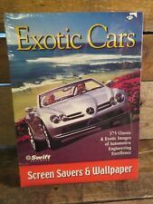 Exotic Cars Screen Savers & Wallpaper Swift Software NEW Sealed CD-ROM 95 or Up