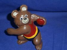Vintage Discus Thrower Misha Bear 1980 Russia Olympics Mascot PVC Figure 3 in