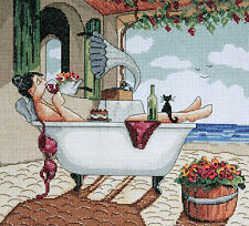 Cross Stitch Kit ~ Design Works My Day Off Woman Relaxing in Bathtub #DW2777