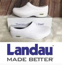 Landau FootwearX Nurse Nursing Comfort White Clogs Unisex Women 7 Men 6 New