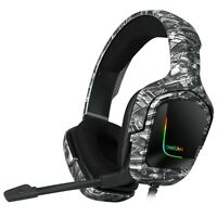 K20 Camo Grey Gaming Headset with Surround Sound PS4 Headphones with Mic Work...