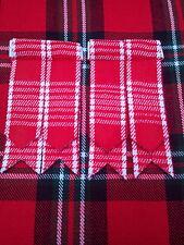 FLASHES DE CHAUSSETTES kilt rouge & blanc Menzies écossais / &