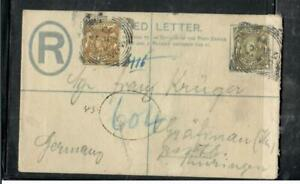 BRITISH EAST AFRICA COVER (PP1704W)  1899 2A RLE+QV 5A+8A MOMBASA TO GERMANY