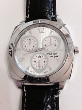 Pulse New York Designer Big Dial Excellent Condition Working Quartz Watch