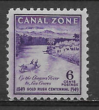CANAL ZONE , US , 1949 , GOLD RUSH , 6c STAMP , PERF , MNH