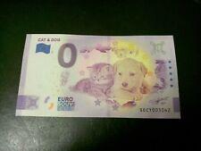 Billet zéro eurosouvenir 2021  CAT & DOG