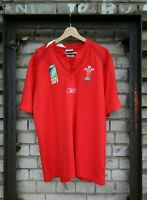 Wales Rugby Shirt National Team Cymru World Cup 2007 Reebok Size L 42/44