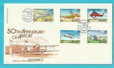 Großbritannien-alderney de 1985 FDC Minr. 18-22 Aéroport Hélicoptère