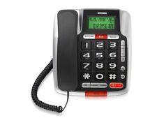 Telefono a filo senior BRONDI  BRAVO 105 LCD con grande Display NERO  NUOVO
