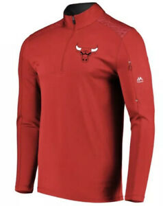 Majestic Men's Chicago Bulls 1/4 Zip Pullover Tech Jacket Extra Large XL NBA