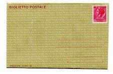 ITALIA REPUBBLICA 1966 BIGLIETTO POSTALE da 40 Lire  B 47 NUOVO