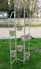 Rustic Garden Planter n Pots Rustic metal Cream Shabby Chic Antique Feel