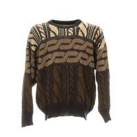 Vintage Strickpullover Gr. M Sweater Sweatshirt Langarm Retro Muster