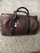 1610977aef Polo Ralph Lauren Leather Duffle Bag Mahogany Brown MFL15 ACC  698