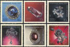 Russie 1971 diamants/minéraux/diamant bijoux/Pierres précieuses 6 V Set (n44062)