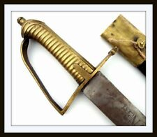 Antique American & French Revolution Grenadier Trooper'S Cutlass Battle Sword