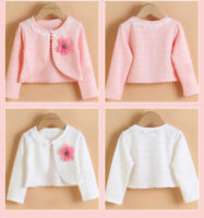 Baby Girls Clothes Cute Pink/White Shawl Kids Cardigan Party Coat Cotton Shirt