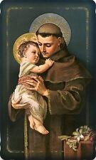 Hl. Antonius Heiligenbildchen Glitzer Format Postkarte Kommunion HBG-P 5026