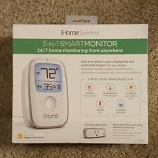 New iHome Control 5-In-1 Smart Monitor 24/7 Works with Apple HomeKit iss50wc