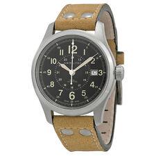 Hamilton Khaki Field Automatic Black Dial Brown Leather Mens Watch H70595593