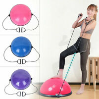 """24"""" Yoga Half Ball Balance Trainer Exercise Fitness Strength Gym Workout w/ Pump"""