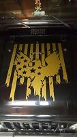 Eagle American Flag Hood Decal large Auto graphic fits jeep truck car or trailer