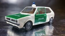 ** Brekina 25506 VW Golf Police Vehicle White/Green 1:87 HO Scale