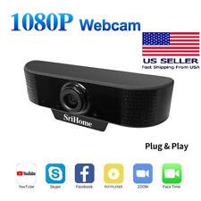 1080P Webcam Full HD USB Web Camera W/ Microphone For Laptop Desktop Computer US