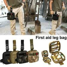 Tactical Drop Leg Bag Bum Thigh Hip Belt Waist Pack First Aid Medical Pouch