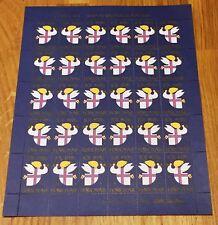 Faroe Christmas Labels 1976 Full Sheet Mnh - Medium Format - Excellent